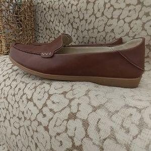 Olukai Kiele Mocha Leather Loafers 39/9
